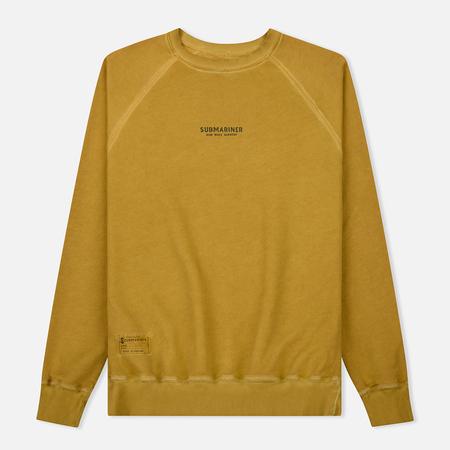 Мужская толстовка Submariner Reglan Garment Dye Vintage Effect Mustard