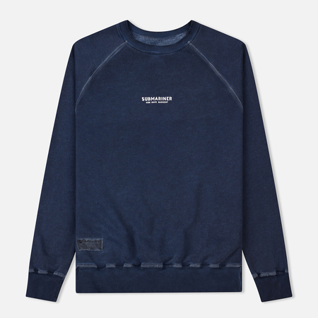 Мужская толстовка Submariner Reglan Garment Dye Vintage Effect Navy