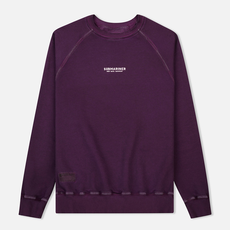 Мужская толстовка Submariner Reglan Garment Dye Vintage Effect Purple