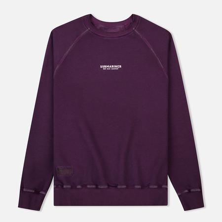 Мужская толстовка Submariner Reglan Garment Dye Vintage Effect Purple