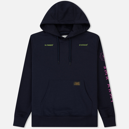 Мужская толстовка Submariner SMR Save Hold Straight Logo Hoodie Navy