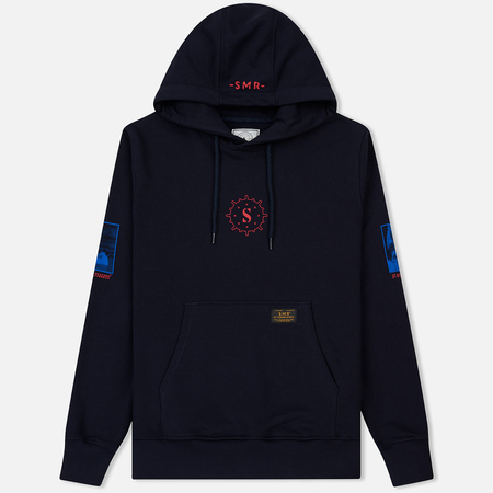 Мужская толстовка Submariner The Sea Sappers Web Brutalism Logo Hoodie Navy