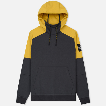 Мужская толстовка The North Face Fine Box Hoodie Asphalt Grey/Leopard Yellow