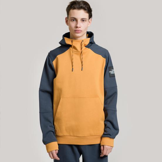 Мужская толстовка The North Face Fine Box Hoodie Citrine Yellow/Urban Navy