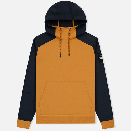 70a0f376 Мужская толстовка The North Face Fine Box Hoodie Citrine Yellow/Urban Navy