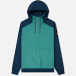 Мужская толстовка The North Face Fine Box Hoodie Porcelain Green/Blue Wing Teal фото- 0