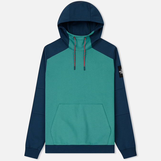 Мужская толстовка The North Face Fine Box Hoodie Porcelain Green/Blue Wing Teal