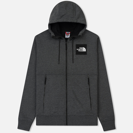 Мужская толстовка The North Face Fine Full Zip Hoodie Dark Grey Heather