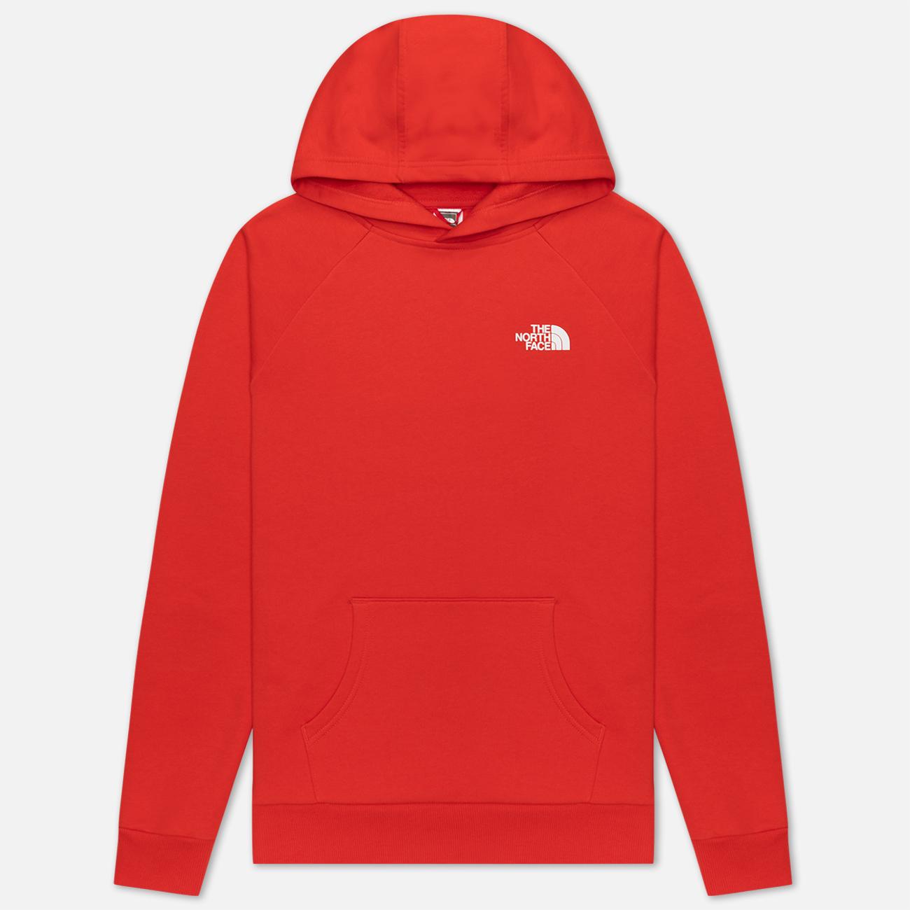 Мужская толстовка The North Face Raglan Red Box Hoodie Fiery Red