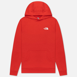 Мужская толстовка The North Face Raglan Red Box Hoodie Fiery Red