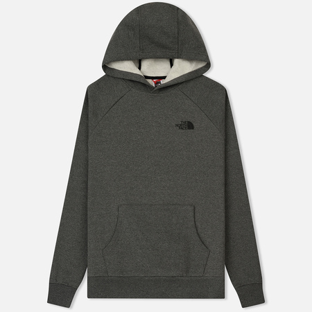 Мужская толстовка The North Face Raglan Red Box Hoodie Medium Grey Heather