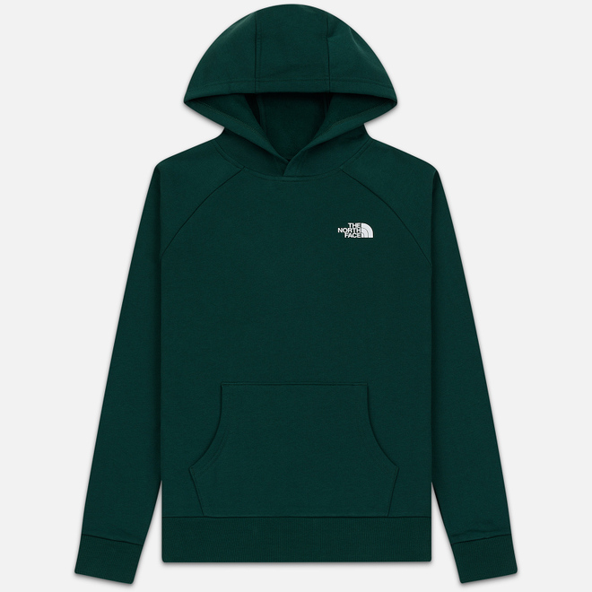 Мужская толстовка The North Face Raglan Red Box Hoodie Night Green