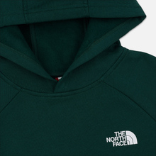 Мужская толстовка The North Face Raglan Red Box Hoodie Night Green фото- 1