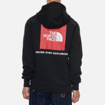 Мужская толстовка The North Face Raglan Red Box Hoodie TNF Black фото- 4
