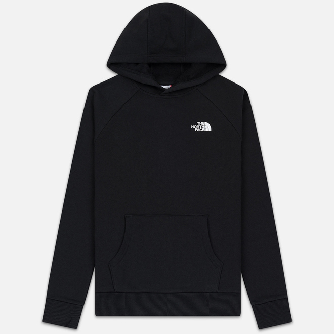 Мужская толстовка The North Face Raglan Red Box Hoodie TNF Black/TNF White