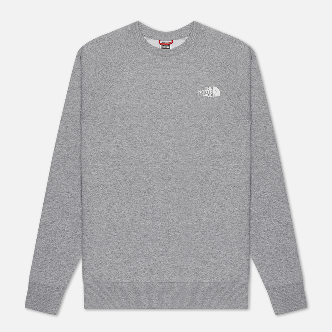 Мужская толстовка The North Face Raglan Redbox Crew TNF Light Grey Heather/English Green