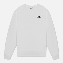 Мужская толстовка The North Face Raglan Redbox Crew TNF White/Flame Orange