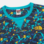 Мужская толстовка The North Face Street Fleece Turquoise/Blue/Yellow фото- 1
