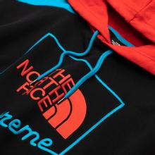 Мужская толстовка The North Face Xtreme Hoodie TNF Black/Fiery Red/Meridian Blue фото- 1