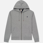 Мужская толстовка Timberland Exeter River Zip-Up Hoodie Medium Grey Heather фото- 0