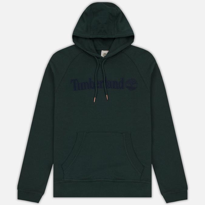 Мужская толстовка Timberland Letter Logo Hoody Darkest Spruce