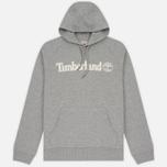 Мужская толстовка Timberland Letter Logo Hoody Medium Grey Heather фото- 0