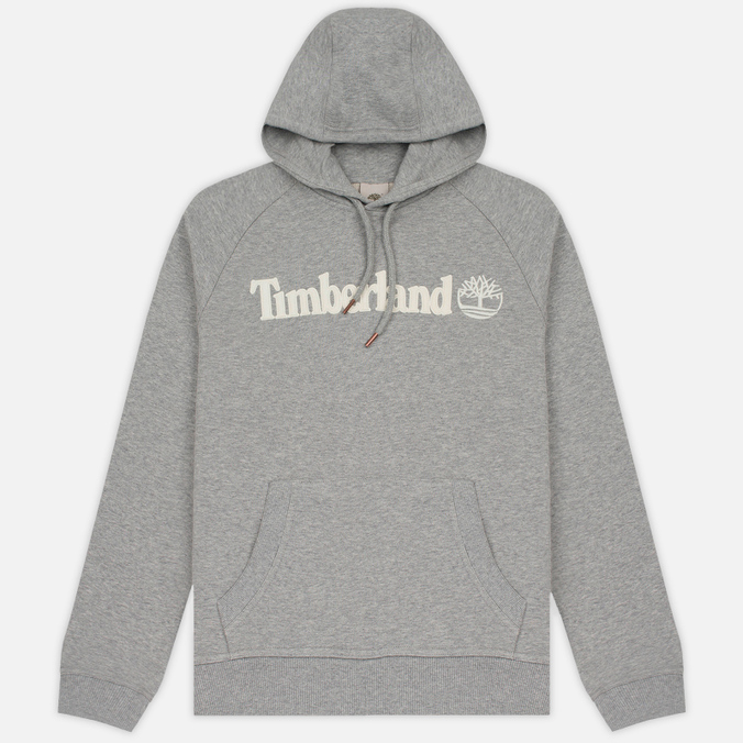 Мужская толстовка Timberland Letter Logo Hoody Medium Grey Heather