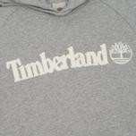 Мужская толстовка Timberland Letter Logo Hoody Medium Grey Heather фото- 2