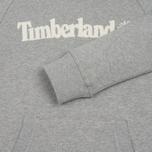 Мужская толстовка Timberland Letter Logo Hoody Medium Grey Heather фото- 4