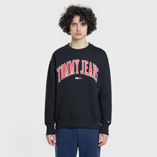 Мужская толстовка Tommy Jeans Clean Collegiate Crew Black фото- 1