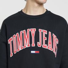Мужская толстовка Tommy Jeans Clean Collegiate Crew Black фото- 2