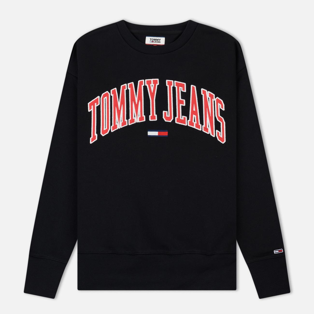 Мужская толстовка Tommy Jeans Clean Collegiate Crew Black