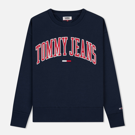 Мужская толстовка Tommy Jeans Clean Collegiate Crew Black Iris