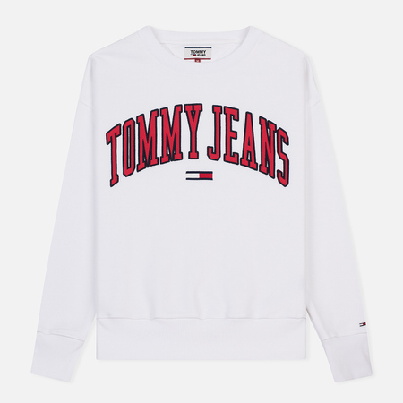 Мужская толстовка Tommy Jeans Clean Collegiate Crew Classic White