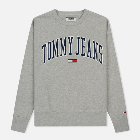 Мужская толстовка Tommy Jeans Clean Collegiate Crew Light Grey Heather