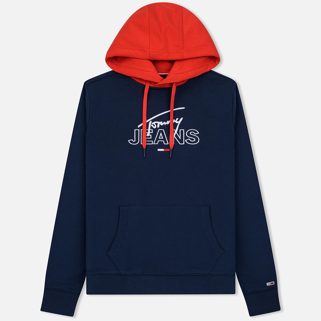 Мужская толстовка Tommy Jeans Color Block Graphic Hoodie Black Iris/Flame Scarlet