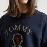 Мужская толстовка Tommy Jeans Crest Crew Dark Sapphire фото- 3