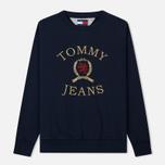 Мужская толстовка Tommy Jeans Crest Crew Dark Sapphire фото- 0