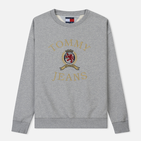 Мужская толстовка Tommy Jeans Crest Crew Grey Heather
