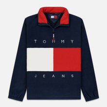 Мужская толстовка Tommy Jeans Flag Polar Fleece Navy Blazer/Multi фото- 0