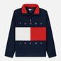 Мужская толстовка Tommy Jeans Flag Polar Fleece Navy Blazer/Multi фото - 0