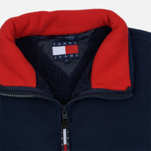 Мужская толстовка Tommy Jeans Flag Polar Fleece Navy Blazer/Multi фото- 1