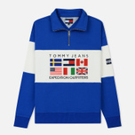 Мужская толстовка Tommy Jeans Half-Zip Expedition 6.0 Surf The Web фото- 0