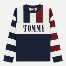 Мужская толстовка Tommy Jeans Heritage Stripe Crew Neck Navy Blazer/Multi фото- 0