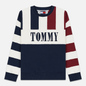 Мужская толстовка Tommy Jeans Heritage Stripe Crew Neck Navy Blazer/Multi фото - 0