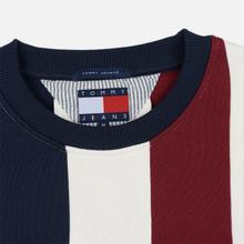 Мужская толстовка Tommy Jeans Heritage Stripe Crew Neck Navy Blazer/Multi фото- 1