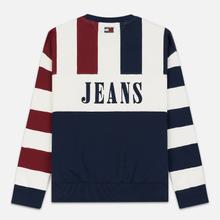 Мужская толстовка Tommy Jeans Heritage Stripe Crew Neck Navy Blazer/Multi фото- 5