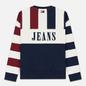 Мужская толстовка Tommy Jeans Heritage Stripe Crew Neck Navy Blazer/Multi фото - 5