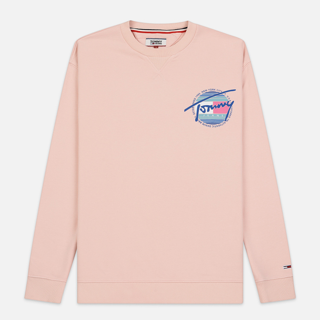 Мужская толстовка Tommy Jeans Light Washed Crew Peachskin