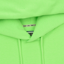 Мужская толстовка Tommy Jeans Neon Small Logo Hoodie Green Gecko фото- 1